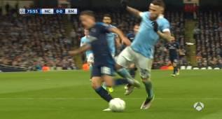 El Madrid reclamó un posible penalti sobre Lucas Vázquez
