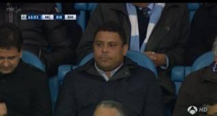 Ronaldo Nazario no quiso perderse el partido