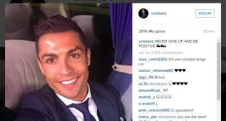 """Cristiano, positivo en Instagram: """"No hay que rendirse"""""""
