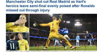 """La Prensa británica, unánime: """"Un heroico Hart salva al City"""""""