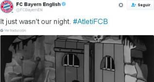 """El Bayern twittea: """"Simplemente, no fue nuestra noche"""""""