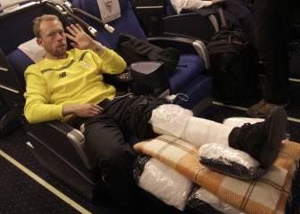 La escalofriante lesión de Krohn Dehli en imágenes