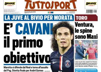 La Juve se cansa de esperar por Morata y va a por Cavani