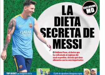 La dieta secreta de Messi, según Mundo Deportivo