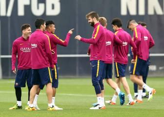 Penúltimo entrenamiento del Barça antes de viajar a Sevilla