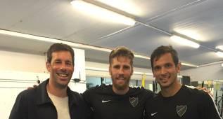 Van Nistelrooy visitó el entrenamiento del Málaga