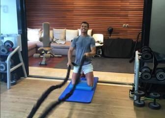 Cristiano no para ni lesionado: doble sesión de gym y piscina