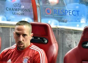 Ribéry no jugó en liga y es duda para la vuelta ante el Atleti