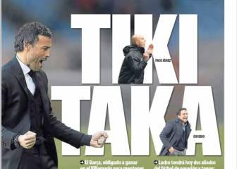 La prensa en Barcelona crea un frente común: el del tiki-taka