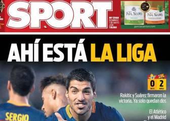 Prensa de Barcelona: cuenta atrás y se acuerda de Adán
