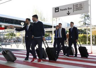 El Atlético aterriza en Múnich arropado institucionalmente