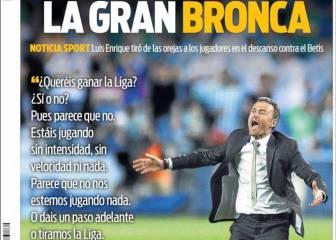 Sport: Gran bronca de Luis Enrique al equipo en Sevilla