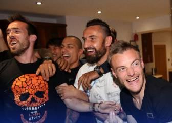 Los jugadores del Leicester celebran el título de la Premier en las redes sociales