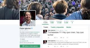 "Pablo Iglesias tuiteó durante el partido: ""¡Vamos Atleti!"""