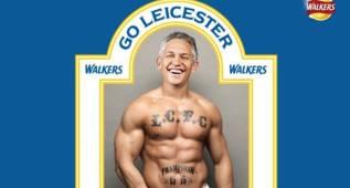 Lineker, imagen de unos snacks tras el título del Leicester