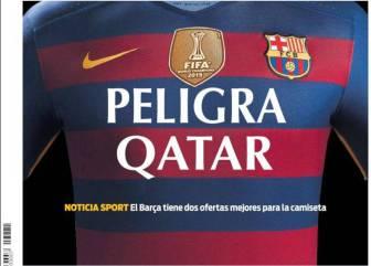 El sponsor de la camiseta y Courtois, en la prensa catalana