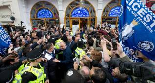 Leicester celebra su hazaña