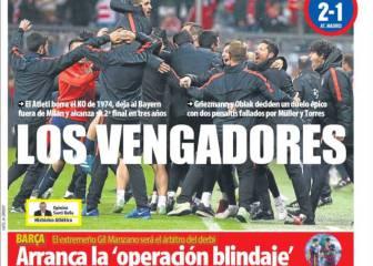 El pase del Atlético de Madrid conquista la prensa catalana