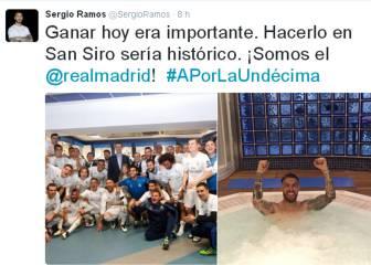 Así celebraron los jugadores del Real Madrid el pase a la final en las redes sociales
