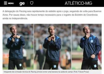 Globo: Gestos racistas del técnico de porteros de Racing
