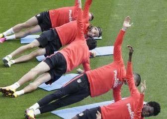 Oblak, baja en la vuelta del Atlético a los entrenamientos