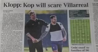 """La prensa inglesa avisa: """"Anfield asustará al Villarreal"""""""
