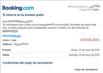 Indignación en las redes por las cancelaciones de Booking