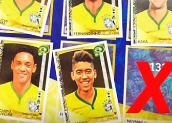 La mitad de la lista de Brasil no sale en el álbum de cromos