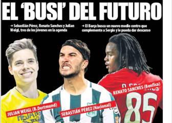 Prensa catalana: el Barça busca al Busquets del futuro