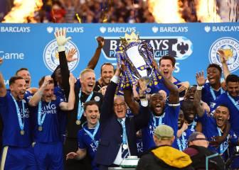 El Leicester celebra el título de la Premier goleando al Everton