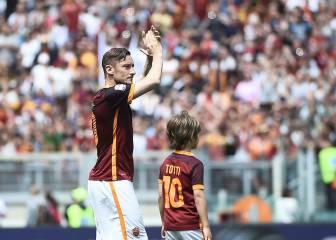 El Roma se despide de su gente con goleada y Totti ovacionado