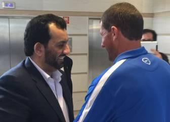 Al-Thani ya está en Vigo y presidirá el Celta-Málaga