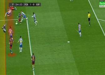 Gol mal anulado a Rakitic por un fuera de juego inexistente