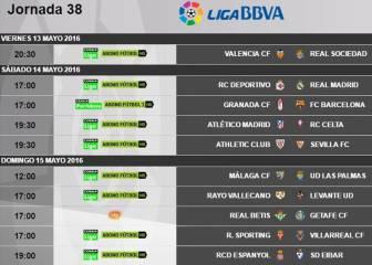 La Liga se decide el sábado a las 17h y el descenso, el domingo
