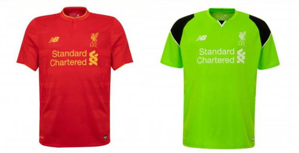 Premier League  El Liverpool presenta su primera equipación para el ... 4f0c3e9bc9580