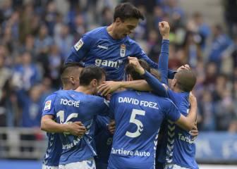 El Oviedo golea al Mirandés y apura sus opciones de ascenso