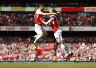 Un triplete de Giroud guía al Arsenal al subcampeonato