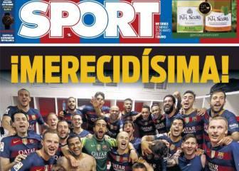 La prensa de Barcelona celebra La Liga de una vez por todas