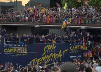 Barcelona se echó a la calle para celebrar la 24ª Liga culé