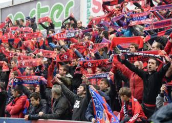 3.000 aficionados se desplazan a Bilbao para apoyar a Osasuna