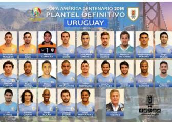 Suárez y Godín lideran la lista de Uruguay en la Copa América