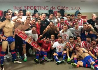 El Sporting lo celebra al modo Real Madrid en el Clásico
