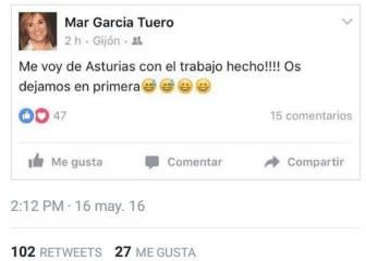 La mujer de Marcelino la lía en Facebook: