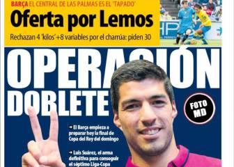El doblete de Neymar y Suárez y Lemos, en la prensa catalana