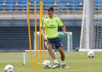 Lucas Vázquez afina para la final de Milán: ya toca balón