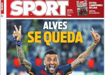 Alves, Luis Enrique y el acuerdo de Nike, en la prensa catalana