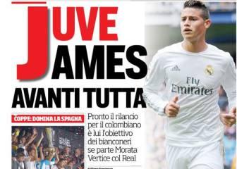 'Corriere': la Juventus se lanzará a por James en verano