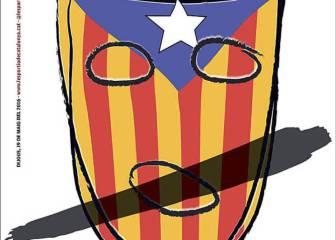 La polémica de las esteladas ocupa la prensa catalana