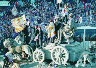 La mayor de las convocatorias madridistas en Cibeles (1998)