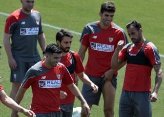 Alegría en la vuelta al trabajo con Rami y José Antonio Reyes